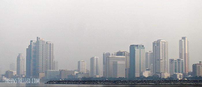 View of Manila on a boat to Corregidor