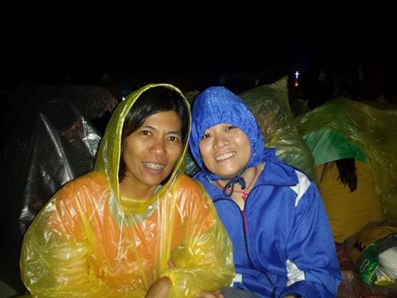 My friends, Maureen and Lestrel, was already in Tacloban airport the night before Pope Francis arrived.